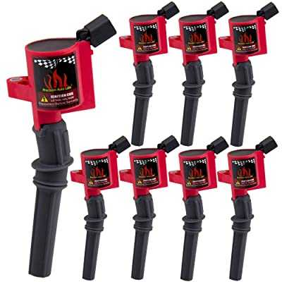 8 Pack Ignition Coil Cuvred Boot for 1997-2020 F150 E150 Explorer,Town Car,Grand Marquis,DG508 DG457,Red: Automotive