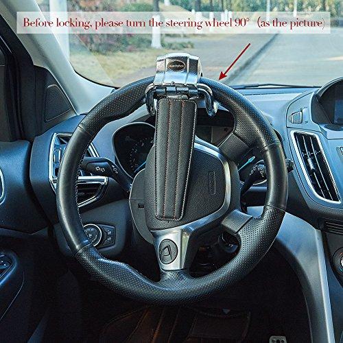 Blueshyhall Auto Car Anti Theft Security Car Steering Wheel Lock (BLACK) by Blueshyhall (Image #3)'