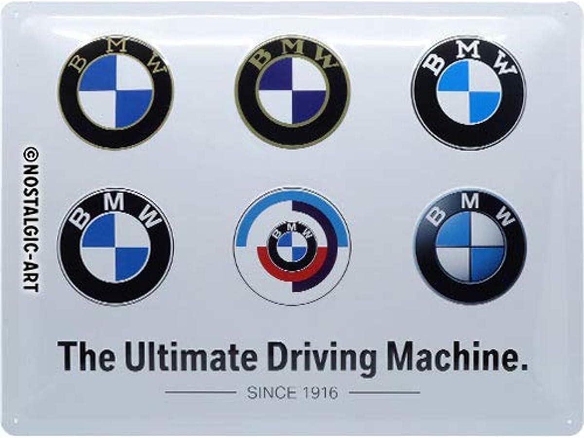 Nostalgic Art 23296 Retro Blechschild Bmw Logo Evolution Geschenk Idee Für Auto