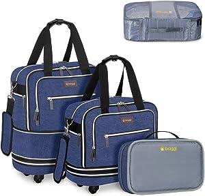 Zipsak Boost! Expandable Under-Seat Carry-On + Zipcube (Navy)