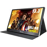 Prechen 13.3-Inch Ultra Slim 1920x1080 IPS 250 cd/m2 Brightness USB 3.0-Powered Portable Computer Monitor for Laptop/PS4…