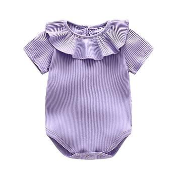40ae1754b7ce6 ZooArts ベビー服 ロンパース かわいい 新生児サイズ 男の子 女の子 半袖 夏 無地 綿 カバーオール ワンピース 赤ちゃん 柔らかい