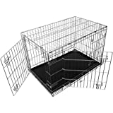 Fauna International Deluxe Comfort Collapsible Wire Crate, Silver,Small