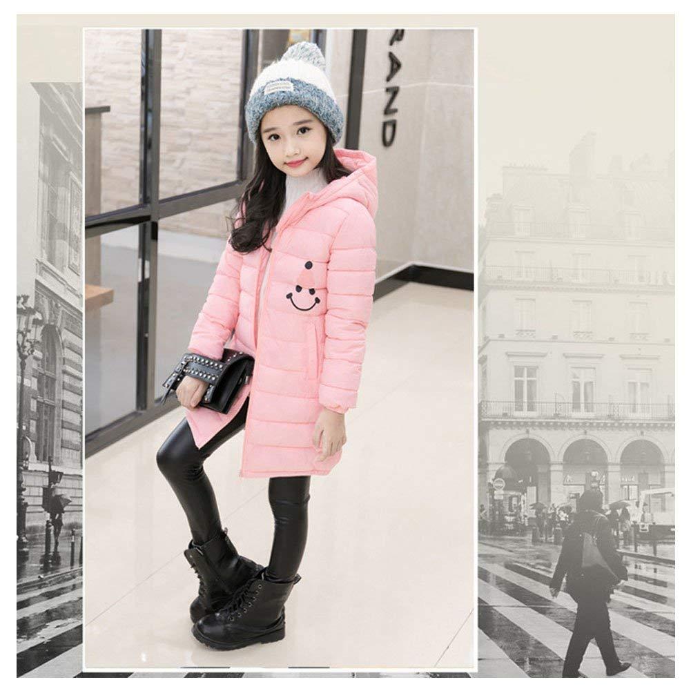 Dolwins Kids Girls Winter Hooded Coat Warm Girls Down Cotton Puffer Jacket Parkas