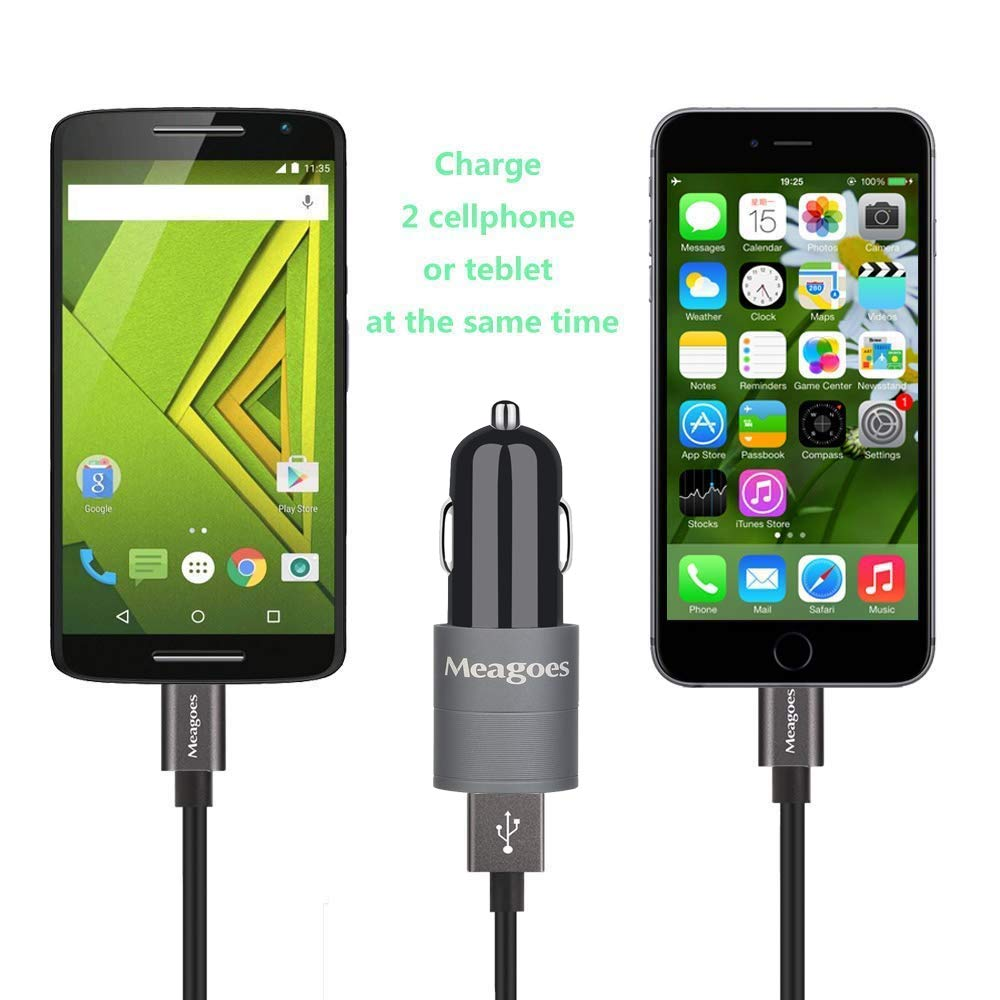 Meagoes Fast Car Charger with Micro USB Cable 4351517963 15W Rapid Quick Charge 2.0 USB Car Power Adapter Compatible Moto G6 Play // G5 Plus // G5s // G5 // G4 // G4 Play // G3 // G2 // G Droid Turbo Motorola Phones