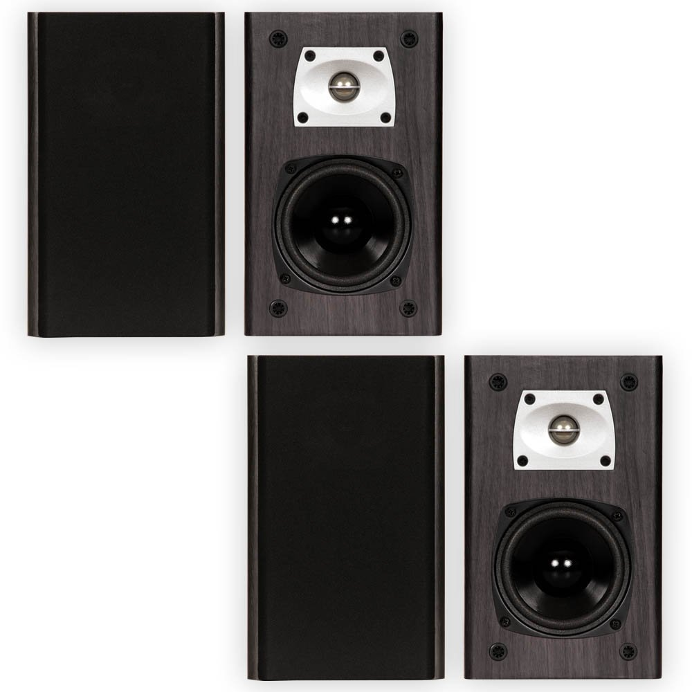 Theater Solutions B1 Black Bookshelf Speakers Surround Sound Home Theater Speaker 2 Pair Pack by Theater Solutions