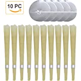 Amazon Price History for:Beeswax Candling Cones 10 PC - 100% All-Natural Unscented Candles Taper with 5 Protective Disks, Dustproof Sponge and Plastic Drip Stop Filter