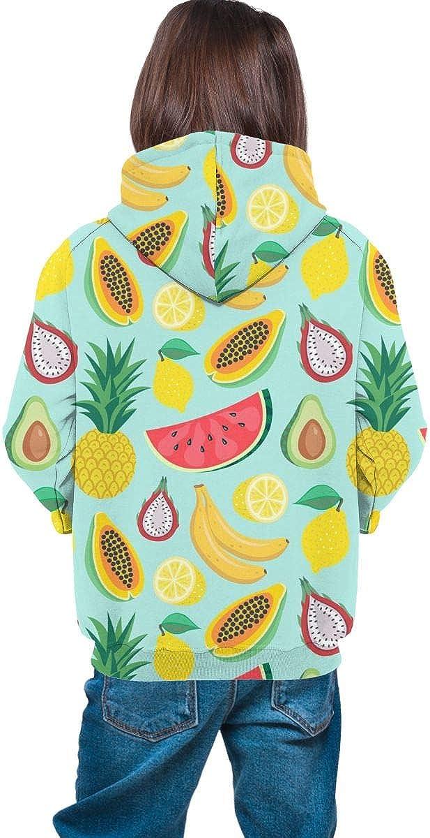 Lichenran Fruit Tropical Unisex Pullover Teens Hoodie Hooded Sweatshirt Colorful