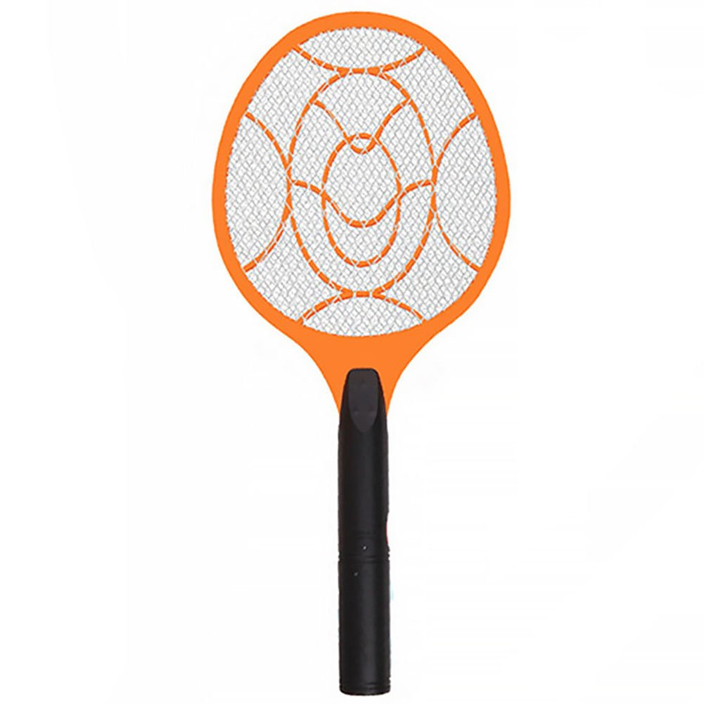 YOEDAF 3 Layers Net Dry Cell Battery Hand Bug Racket Safe Electric Swatter Pest Control Insect Bat Wasp Zapper Fly Mosquito Killer Repellent for Home Garden Outdoor(4922cm,orange+black)