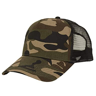 3300604ab21 Beechfield Camo Snapback Trucker Cap Jungle ONE  Amazon.co.uk  Clothing