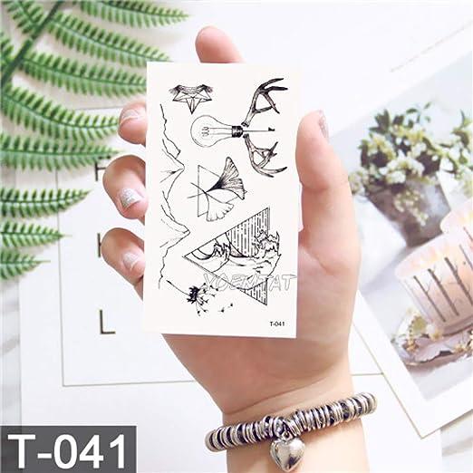 tzxdbh Etiqueta engomada Temporal del Tatuaje 2pcs-Impermeable ...