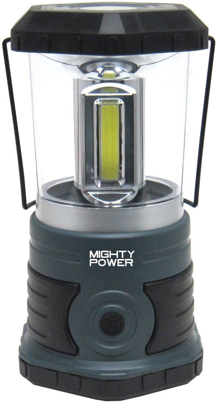 Mighty Power C.O.B. LED Lantern With Compass & Handle, Gray-Black, 750 Lumens