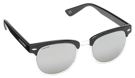 Cressi Vento Occhiali da Sole Unisex-Adulto, Nero/Lenti Specchiate Blu