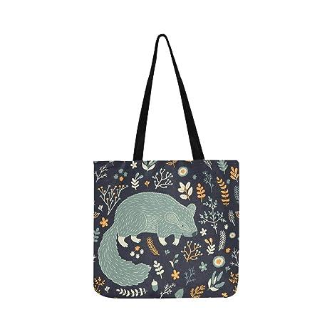 Vector de patrones sin fisuras lindo Marmot floral lienzo ...