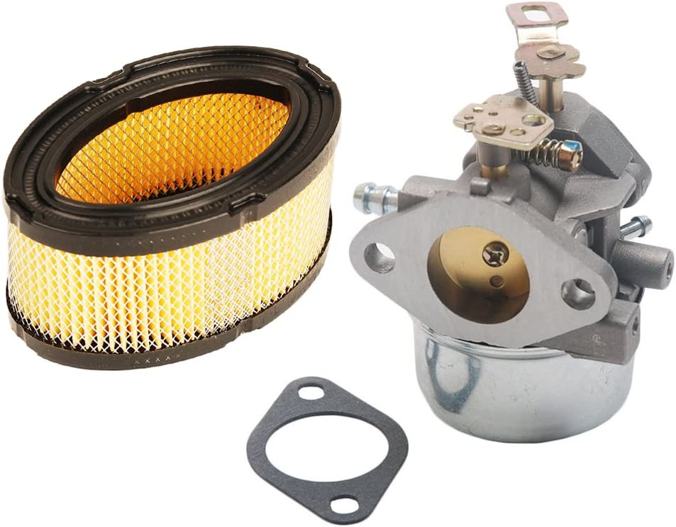 HIFROM Carburetor Carb 640349 640052 640054 with Air Filter 33268 33263 Replace Replacement for Tecumseh 8hp 9hp 10hp HMSK80 HMSK90 Snow Blower Generator Chipper Shredder