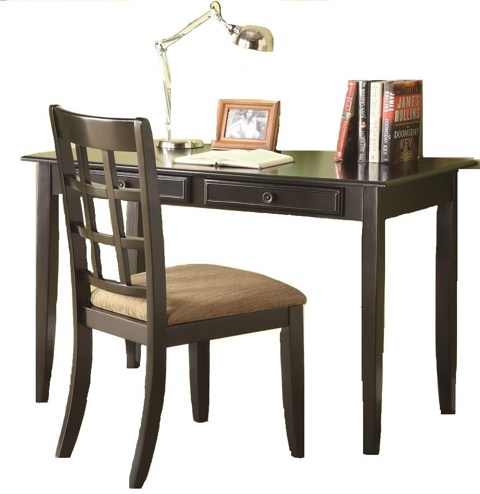 Coaster Home Furnishings 2-piece Writing Desk Set Black and Tan