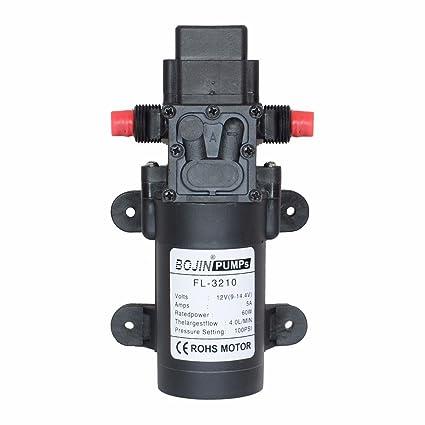 DC12 V 100PSI 4L/M agua alta presión diafragma bomba de cebado automático pumpcaravan/