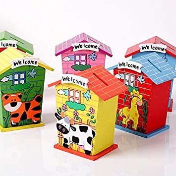 For money gift Birthday cards Piggy Bank die cuts