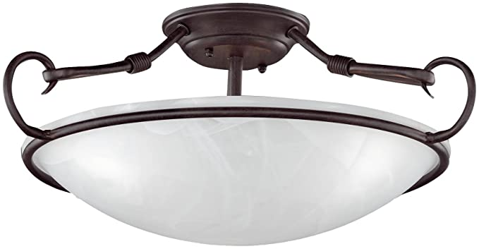 Plafoniera Da Esterno Ruggine : Honsel lampada a soffitto ad effetto ruggine in vetro
