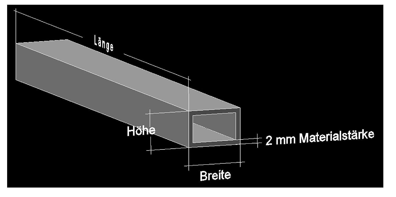 Alu U-Profil 35 x 35 x 35 x 2,0 mm Aluminium AlMgSi0,5 U-Stab Profil Aluprofil U-Stange 150 cm