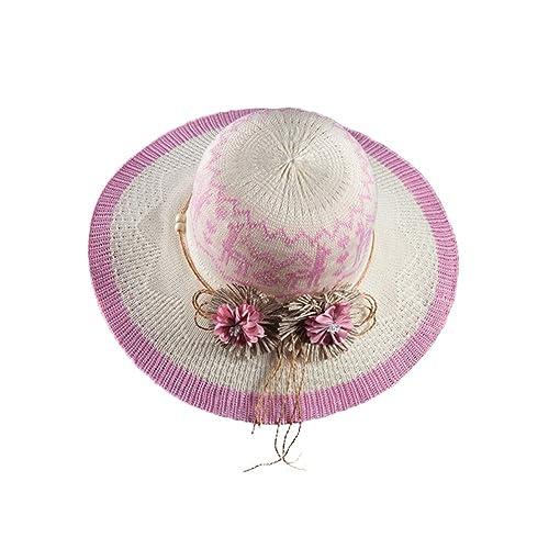 Cappelli di Paglia Panama Donna Ragazze Maglieri Fiore Primavera Estate Cappelli da Sole