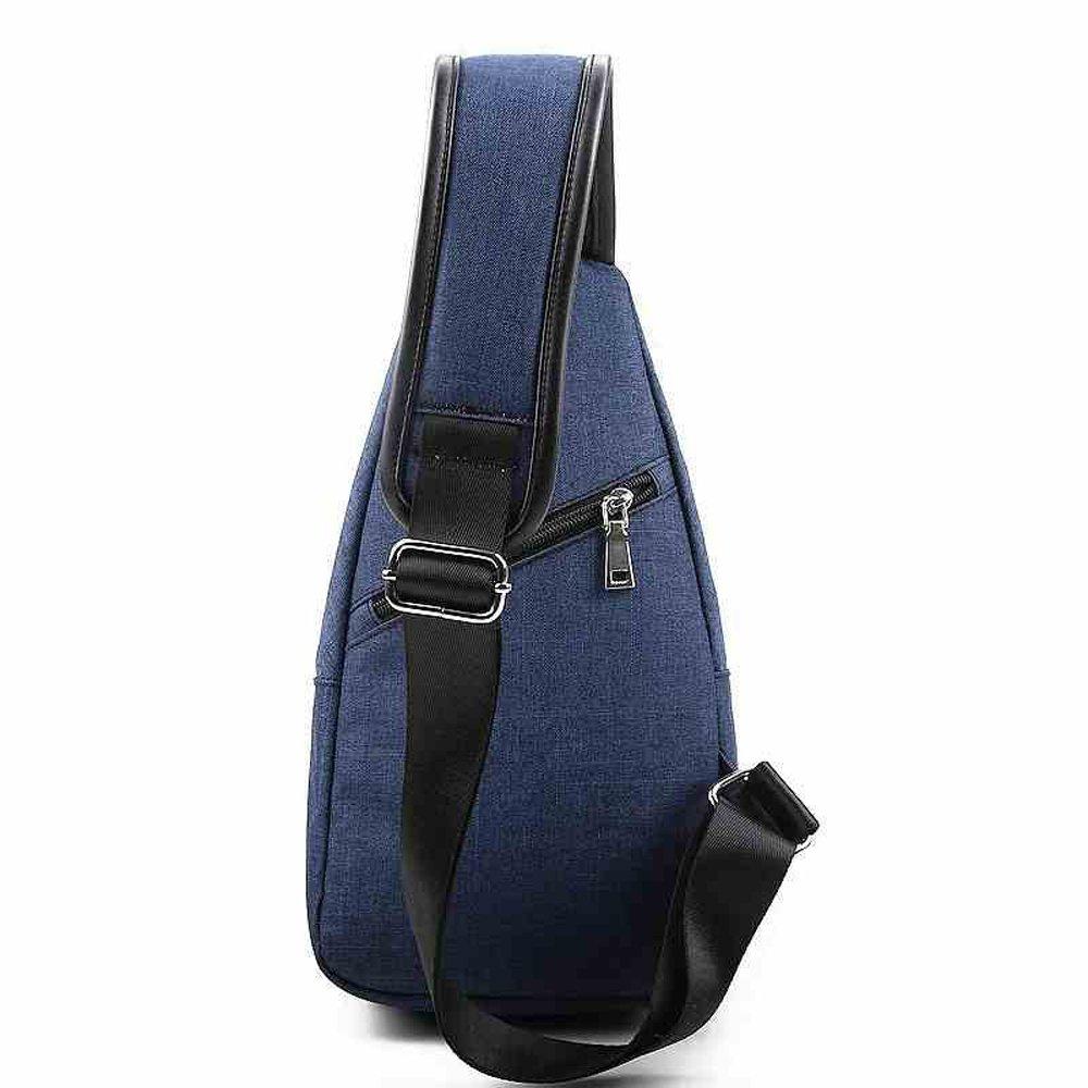 アウトドアメンズバックパック、耐摩耗性ナイロンスポーツバックパックTrendyファッション胸バッグ、通気性防水ショルダーバッグ(ブルー)   B07B99X59X