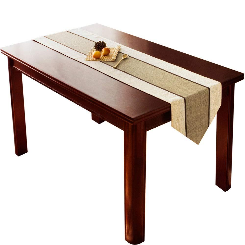 Corridori da tavolo - Decorazione in tessuto Decorazione da tavolo Tovaglia da tavola Tavolino TV Mobile Decorazione da tavola Tessuto in poliestere a strisce (dimensioni possono essere formulate)