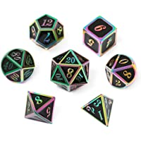 CHENGSHUO DND Metal Dice,RPG Dice Set,Polyhedral Solid Enamel Zinc Alloy ,for Role Playing Game Dungeons and Dragons D&D…