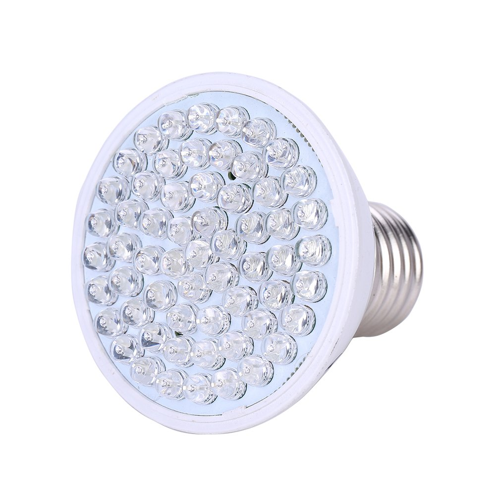 gaeruite LED Plant Grow Light Bulb for Indoor Plants, Plant Growth Lamp High Efficiency Lighting for Growing Vegetables, Flower and Hydroponic Aquatic Plants E27 (2W 38LED)