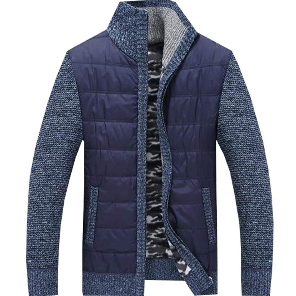 Dolwins Mens Quilted Nylon Full Zip Sweater