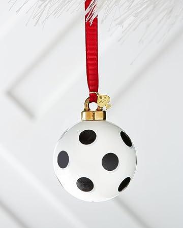 kate spade new york deck the halls dot christmas ornament white black