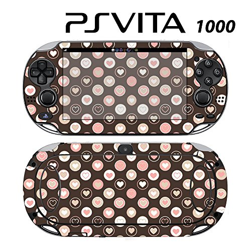 Skin Decal Cover Sticker for Sony PlayStation PS Vita (PCH-1000) - Love Heart Circle -  Decals Plus