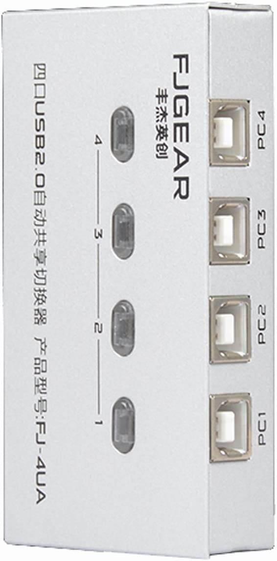c-zone alta velocidad 4 puertos USB 2.0 Hub interruptor Sharing Switcher Auto impresora escáner externa-white: Amazon.es: Electrónica