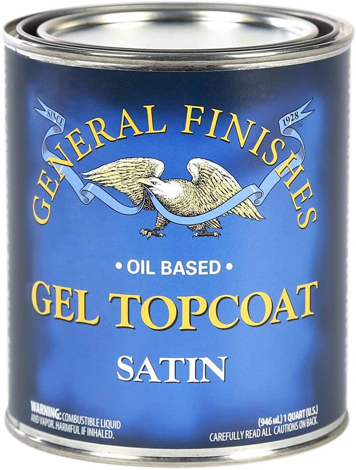 General Finishes Oil Based Gel Topcoat, 1/2 Pint, Satin