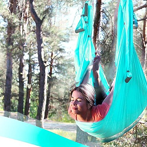 Budalga Yoga Swing Sling Trapeze Inversion Equipment Flying Yoga Hammock Anti-Gravity by Budalga (Image #3)