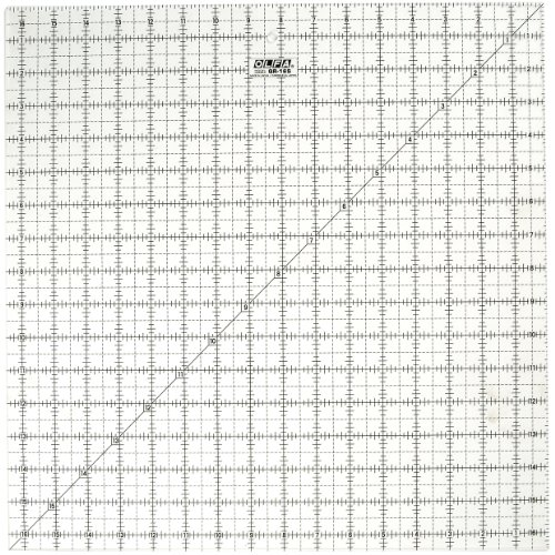 OLFA 1071800 QR-16S 16-1/2-Inch Square Frosted Advantage Acrylic (Frosted Advantage Acrylic Ruler)