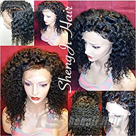Full Lace Wigs for Black Women Pre Plucked Full Lace Glueless Brazilian Remy Human Hair Wigs with Baby Hair (12 inch, 150% Density Full Lace Wig)