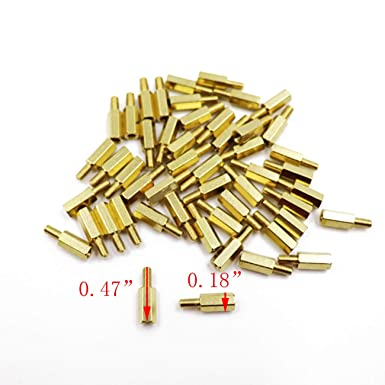 50Pcs TOUHIA M3x6+6mm Male to M3 Female Hex Head PCB Standoffs Spacers 12mm Length