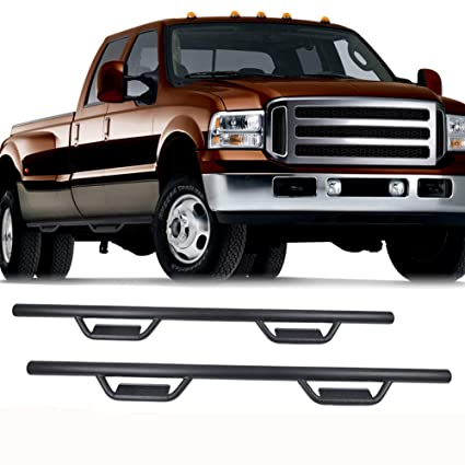 2015-2018 Ford F-150 Super Crew Cab Hoop Style Side Step Nerf Bars Running Board