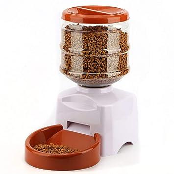 Laurelmartina 5.5L alimentador automático de Mascotas con grabación de Mensaje de Voz y Pantalla LCD