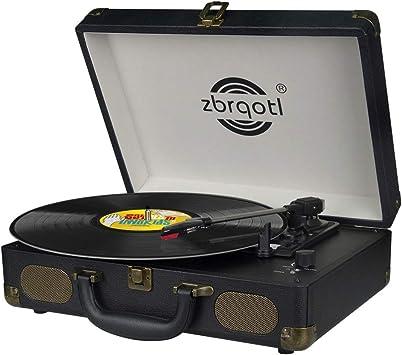 Amazon.com: Vinyl Record Player - Tocadiscos de 3 ...