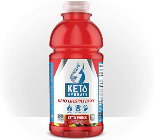 Keto Hydrate, Keto Lifestyle Drink, BHB Ketones for Energy, Electrolytes, Sugar and Caffeine Free, Burn Fat, Focus, Lose Weight, Perfect for Intermittent Fasting, Packaging May Vary Keto Punch