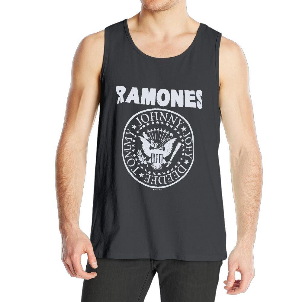 S Charcoal Classic Ramones Logo Ness Jogging Black Shirt Tank Tops