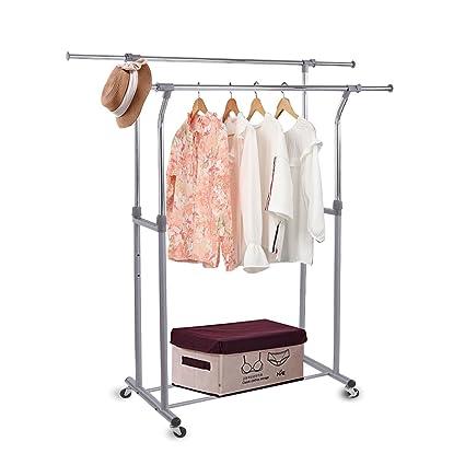 rackarster ropa de doble barra para colgar accesorio de ...