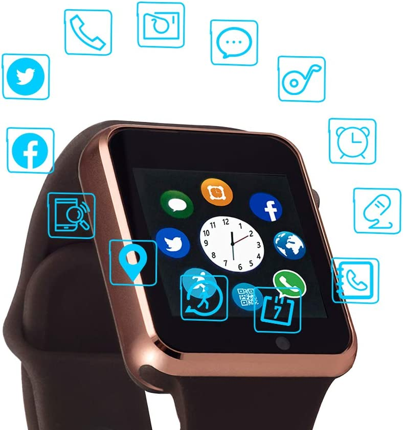 Smart Watch Color Touch Screen Bluetooth Smart Watch Sports Smart Watch TF/SIM Card Slot Smart Watch Multi Function Smart Watch Compatible with ...