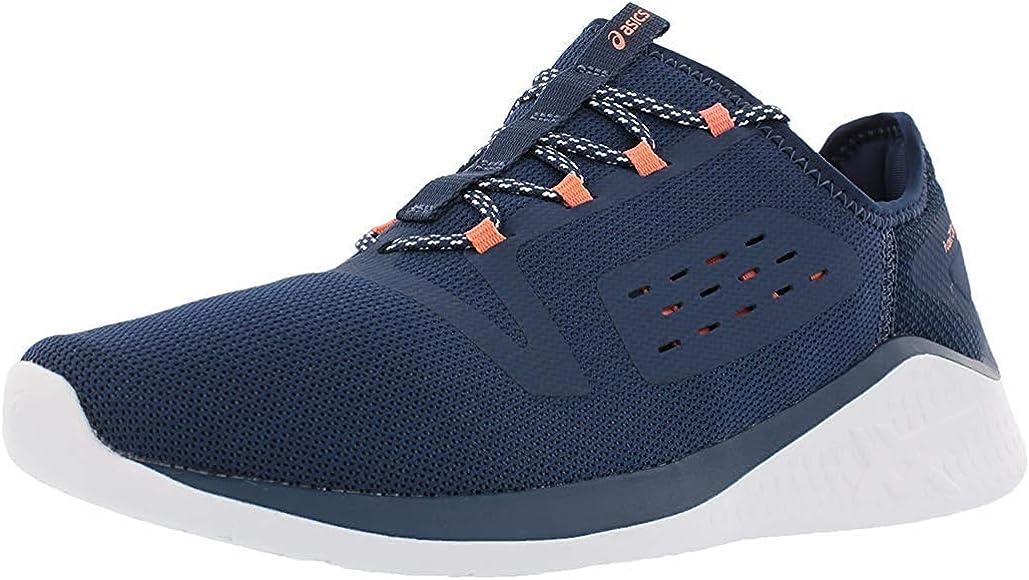 ASICS Womens FUZETORA Running Shoe Dark Blue/Dark Blue/Begonia Pink 5 (S): Amazon.es: Zapatos y complementos