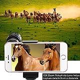 TECHO Professional 12X Zoom Telephoto Lens, Fisheye Lens, Wide Angle Lens, Macro Lens for iPhone 7 6s Plus SE, Samsung Galaxy S8 S7 Edge Google & Most Smartphones