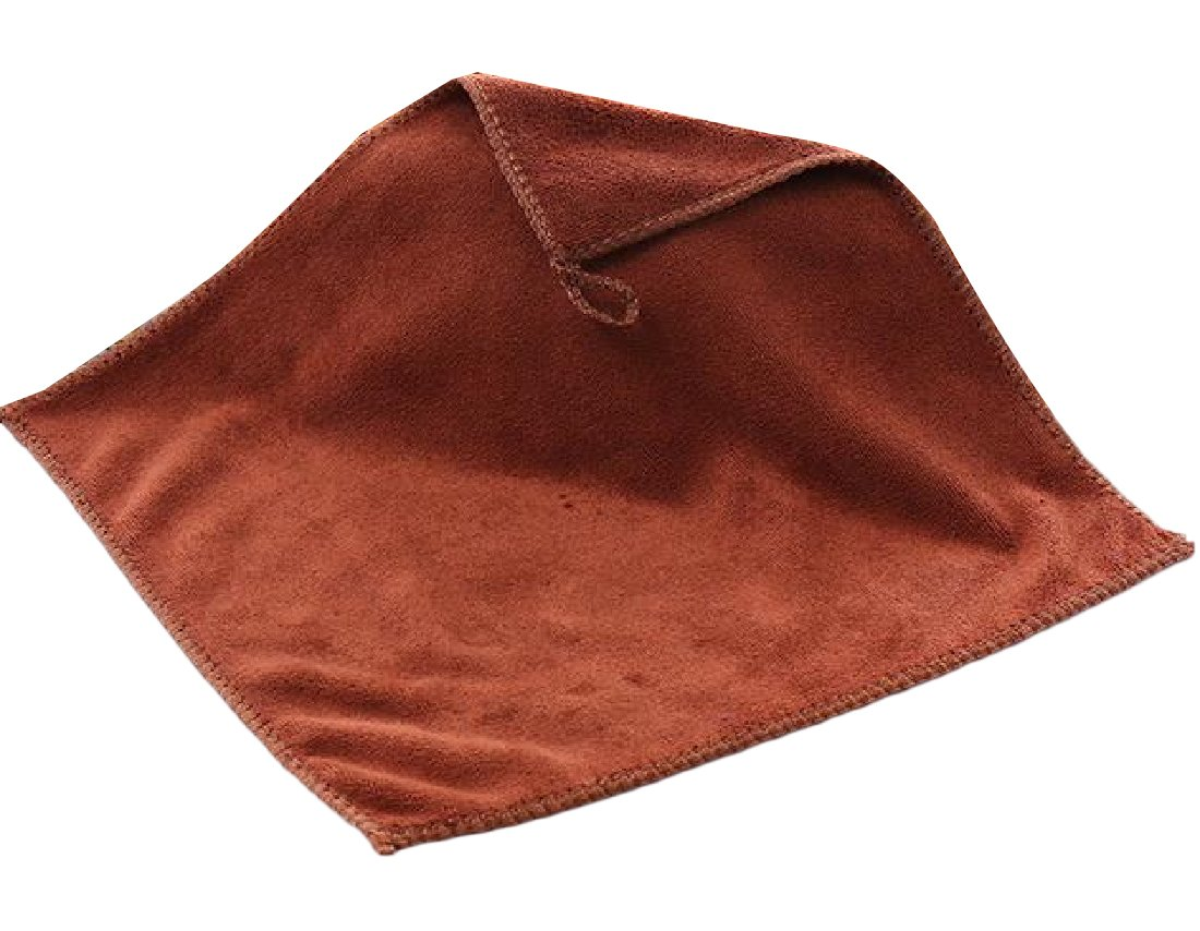 Zimaes Superfine Fiber Chenille Premium Plush Cloth Multi-purpose Absorbent Auto Cloth Coffee OS