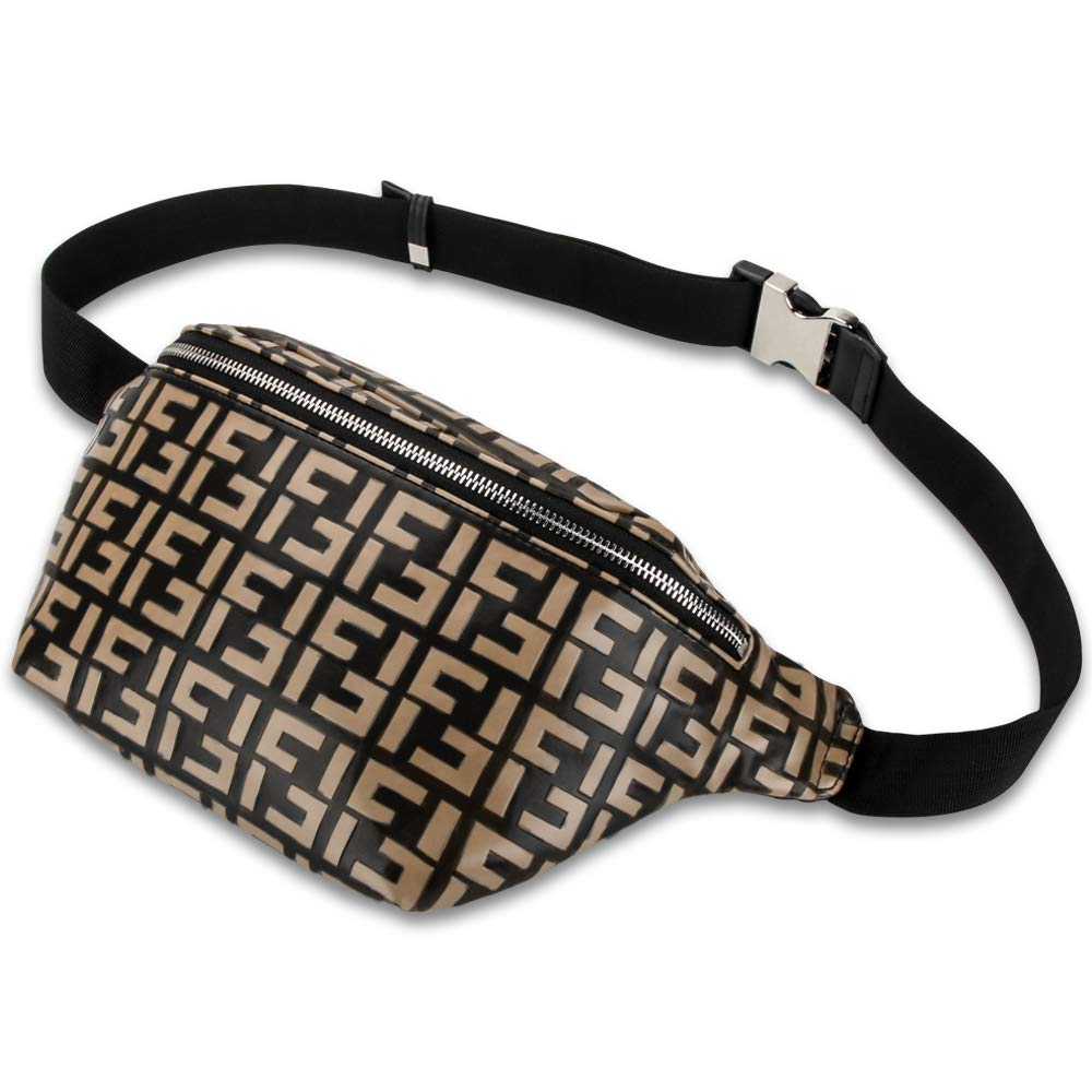 Olyphy Designer Leather Fanny Pack for Women, Fashion Belt Purse Waist Pack for Ladies Belt Bags