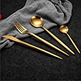 Hot Sale 4 Pcs/Set Pure Gold European Dinnerware Knife 304 Stainless Steel Western